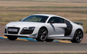 Audi R8 GT front three quarter track view