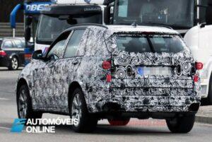 Espiado a nova geração BMW X5 traseira