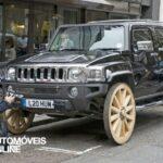 Hummer H3 com rodas em madeira