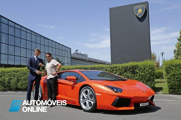 Lamborghini Aventador atinge as 1000 unidades vendidas