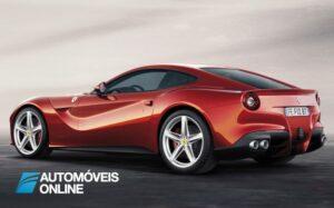 New Ferrari F12 Berlinetta perfil traseiro esquerdo