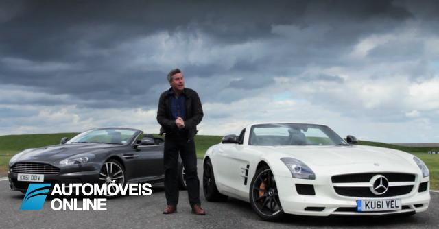 Só visto! Aston Martin DBS Volante Vs. Mercedes SLS AMG Roadster