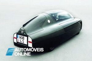 Volkswagen carro consome 1 litor aos 100 km traseira