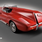 1960 Plymouth XNR concept rear three quarter view