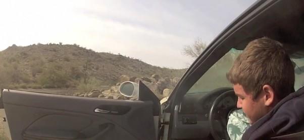 Acidente espectacular com um BMW M3