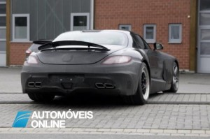 Mercedes Benz SLS AMG Black Series rear view 2013
