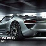 New 2013 Porsche 918 Spyder vista tres quartos traseira esquerda