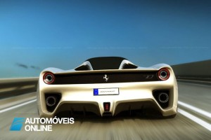 New ferrari f70 v12 concept rear view