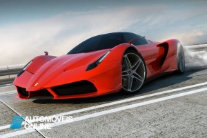 New ferrari f70 v12 concept view left front