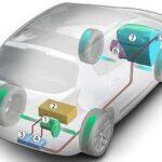 Peugeot 3008 Hybrid4 esquema de baterias