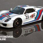 Porsche 918S pyder Martini frente tres quartos esquerdo