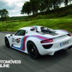 Porsche 918S pyder Martini traseira tres quartos esquerdo