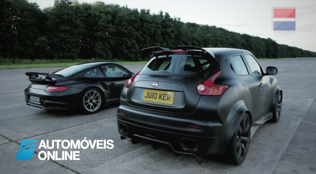 Video espectacular! Nissan Juke-R Vs Porsche 911 GT2 RS