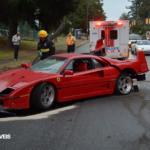 Acidente Ferrari F40 vancouver 1