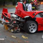 Acidente Ferrari F40 vancouver 2