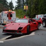 Acidente Ferrari F40 vancouver 3