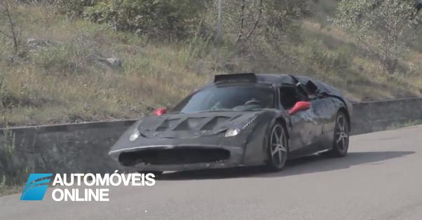 Apanhado! Novo Ferrari Enzo 2013 (F70)