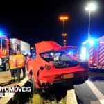 Ferrari F430 acidente grave vista traseira