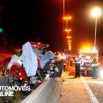 Ferrari F430 acidente vista frente coberto