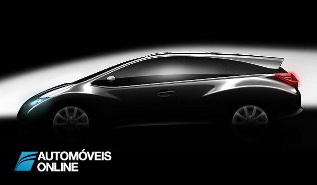 Honda! Modelo Civic vai ter versão break para 2013