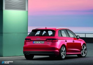 New Audi A3 Sportback 2013 rear view