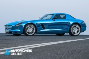 new MercedesBenz SLS AMG Electric 2013 profile view
