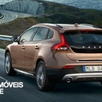 new Volvo V40 Cross Country 2013 rear view on road