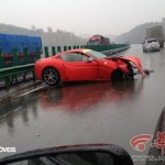 Acidente Ferrari spider 458 e california vista perfil