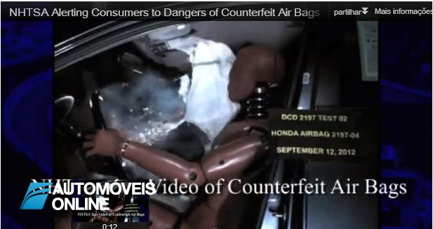 Cuidado! Airbags contrafeitos