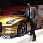 Exclusive car Usain Bolt Nissan GT Left side view