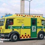 Merkur camião duas frentes bombeiros perfil esquerdo vista