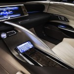 New Lexus LF-LC Concept Blue opala 2013 interior central console view