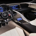 New Lexus LF-LC Concept Blue opala 2013 interior view