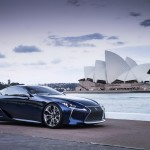 New Lexus LF-LC Concept Blue opala 2013 profile right view