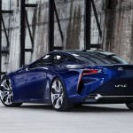 New Lexus LF-LC Concept Blue opala 2013 rear left view