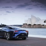 New Lexus LF-LC Concept Blue opala 2013 rear profile left view