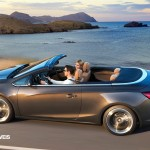 New Opel Cascada Cabriolet Profile Left top Side View