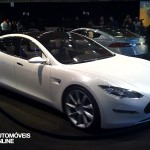New Tesla model s-sedan front View electricar