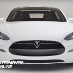New Tesla model s-sedan front face View electricar