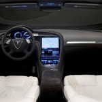 New Tesla model s-sedan front interior View electricar