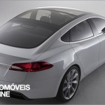 New Tesla model s-sedan rear View electricar