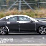 Novo Mercedes-Benz CLA 45 AMG Espiado a realizar testes profile rear view