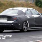 Novo Mercedes-Benz CLA 45 AMG Espiado a realizar testes profile view