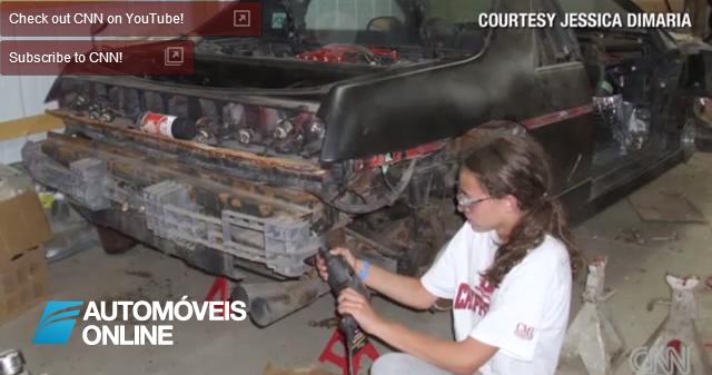 Espectacular Vídeo! Menina de 14 Anos Reconstrói o seu Automóvel