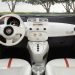 First images Fiat 500e interior view 2013