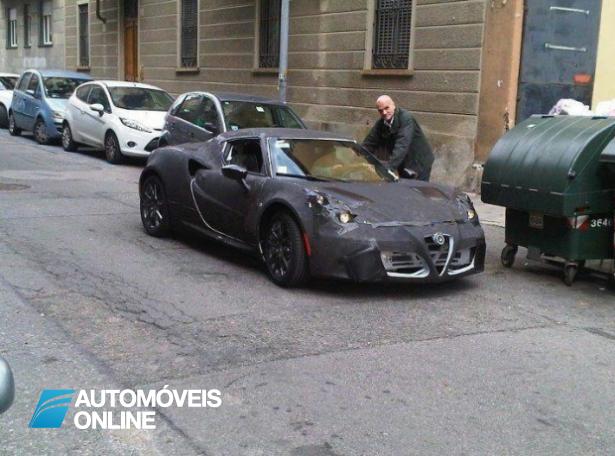 Lindo embora Camuflado! Alfa Romeo 4C apanhado em Turim
