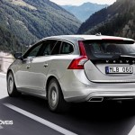 New Volvo V60 Híbrido 2013 rear let view