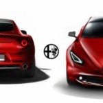 Novo Alfa Romeo Giulia rear and front view