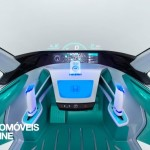 first view Honda Micro Commuter Concept comand tablet view 2013