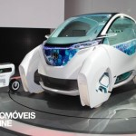 first view Honda Micro Commuter Concept front profile view 2013
